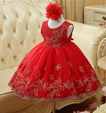 Girls Dresses Summer 2017 Elegant Toddler girls Princess tutu dress infant kids dresses for girls Clothes wedding robe fille(China)