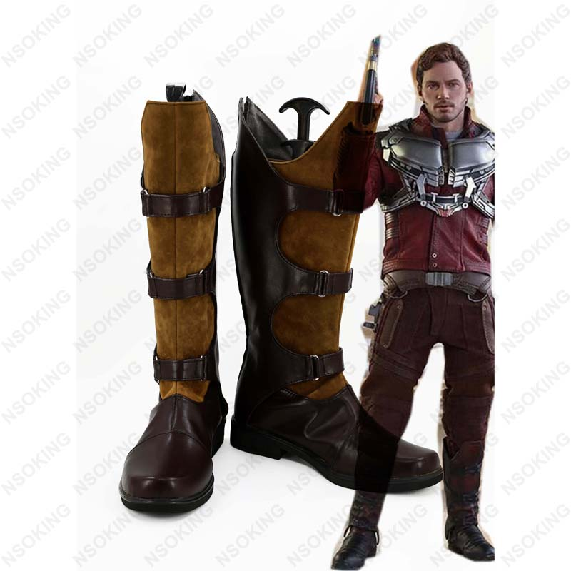 New Film Guardians of the Galaxy 2 Cosplay Shoes Peter Quill Jason Quill Star-Lord Anime Boots Tailor Made