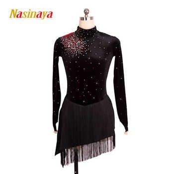 Nasinaya vestido de Patinaje Artístico de competición personalizada falda de Patinaje sobre hielo para niñas mujeres niños Patinaje actuación de gimnasia 54