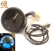 Odometer Universal Speedometer Motorcycle Digital LCD Blue Backlight Oil Pressure Tachometer Instrument for Honda Moto Parts