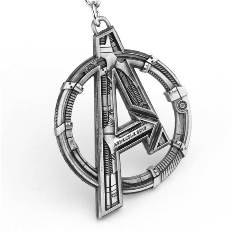 Hot Movie The Avengers 4 Endgame Key Chain Letter A Cosplay Accessories Badge Metal Pendant Fans Gift