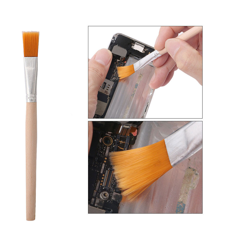 DIYFIX Soft Dust Cleaning Brush With Wooden Handle For Mobile Phone Tablet Laptop PC Repair Clean Tools