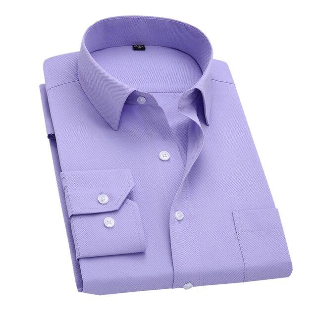 С длинным Рукавом Тонкий Мужчины Платье Рубашка 2017 Новая Мода дизайнер высокое качество твердые мужской clothing fit бизнес рубашки 4xl YN045
