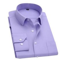 long sleeve slim men dress shirt 2017  fashion designer  solid male clothing fit business shirts 4xl yn045