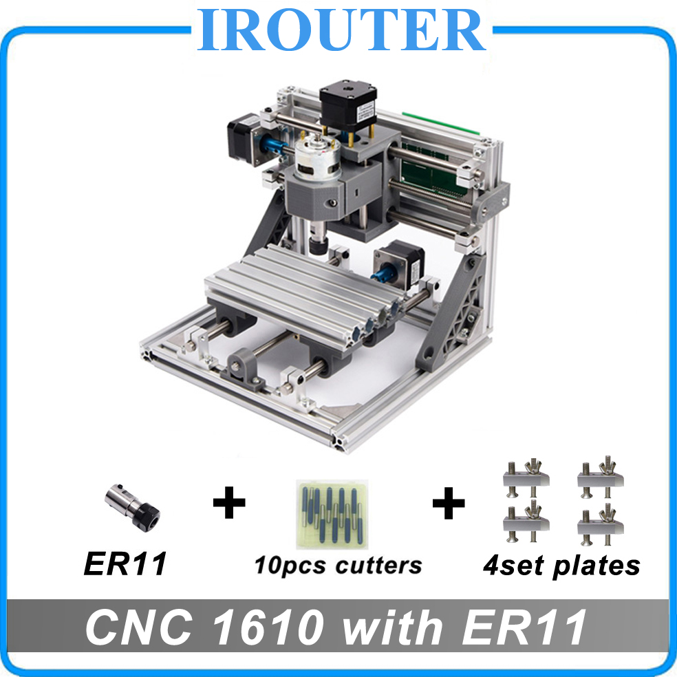 CNC 1610 with ER11 ,mini diy cnc laser engraving machine,Pcb Milling Machine,Wood Carving router,cnc1610,best Advanced toys 1610 mini cnc machine working area 16x10x3cm 3 axis pcb milling machine wood router cnc router for engraving machine