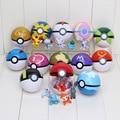 13 Unids Pokeball + 13 Unids Pikachu Pokeball Amo Super Gran Bola De Cenizas De Hadas Animales PVC Figuras de Acción Juguetes