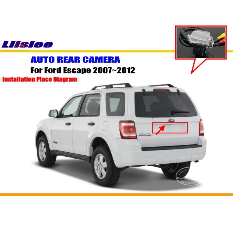 Liislee For Ford Escape 2008~2012 - Rear View Camera / Back Up Park Camera / HD CCD RCA NTST PAL / License Plate Light OEM