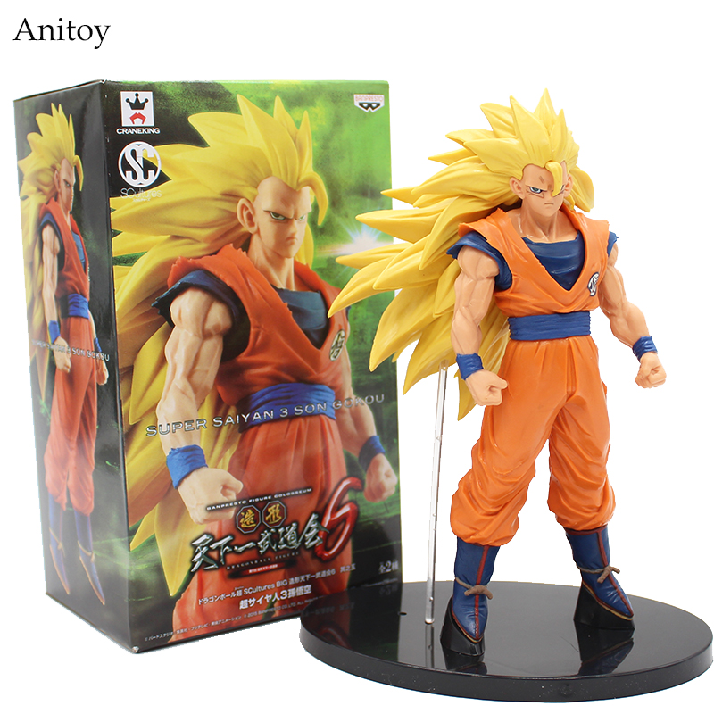 Dragon Ball Z Son Gokou 1/8 scale painted Super Saiyan Son Gokou Doll ACGN PVC Action Figure Collectible Model Toy 20cm KT2861 1 6 scale figure doll troy greece general achilles brad pitt 12 action figures doll collectible figure plastic model toys