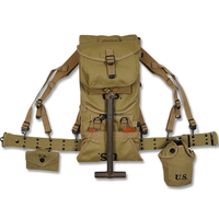 Второй мировой войны США Мюзет армии M1928 ранец ранце Хаки Открытый Охота Кемпинг рюкзак оборудования Conbination 1