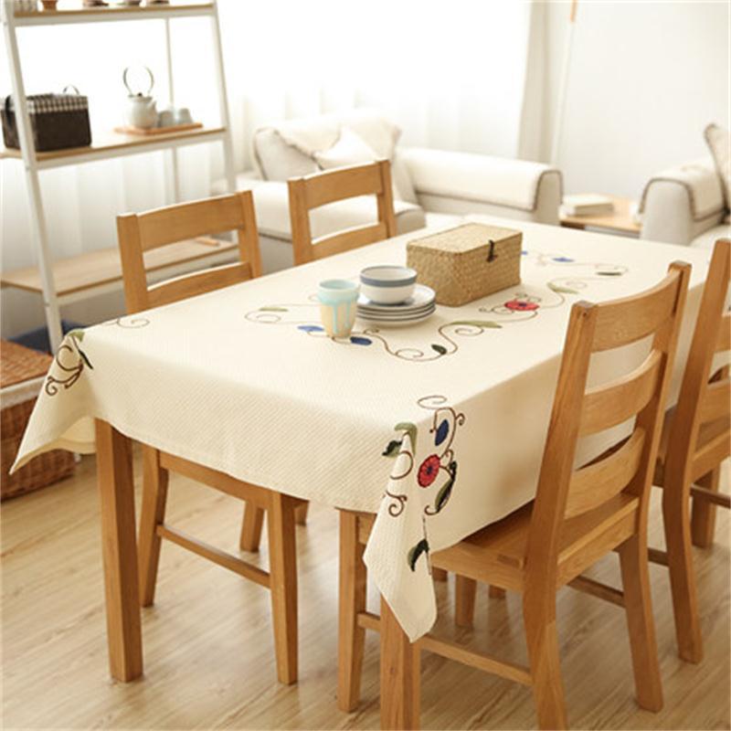 Вышитая скатерть Кофе Таблица сад ткань Простой ветер скатерть круглая покрытие стола полотенца
