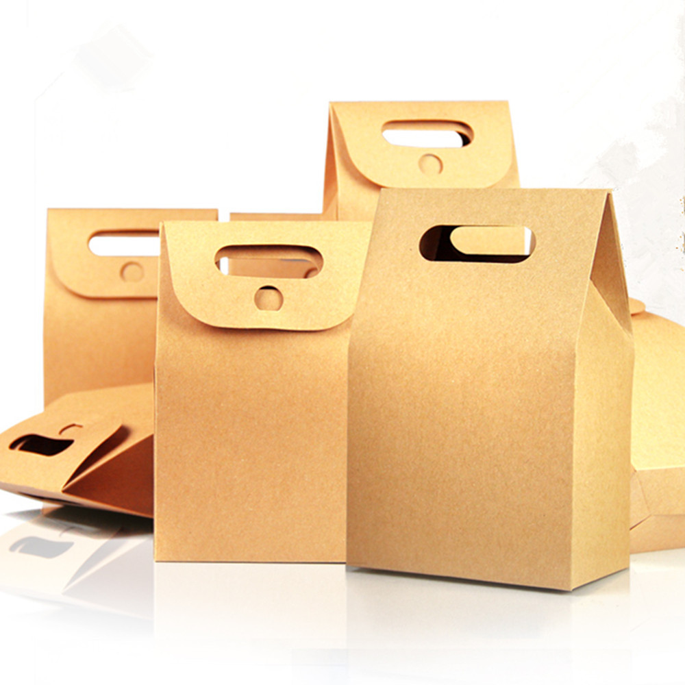 Paper bag yellow - Aliexpress Com Buy Event Gift Brown Doypack Paper Pack Box Handle Bag 10 5 15 6cm 20pcs Lot Dried Flower Tea Nut Candy Stand Up Kraft Paper Box From