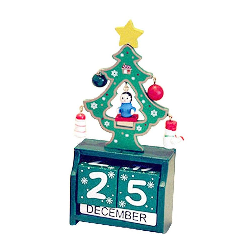 Christmas Countdown Wooden Calendar Decorations Home Officel Desk ...