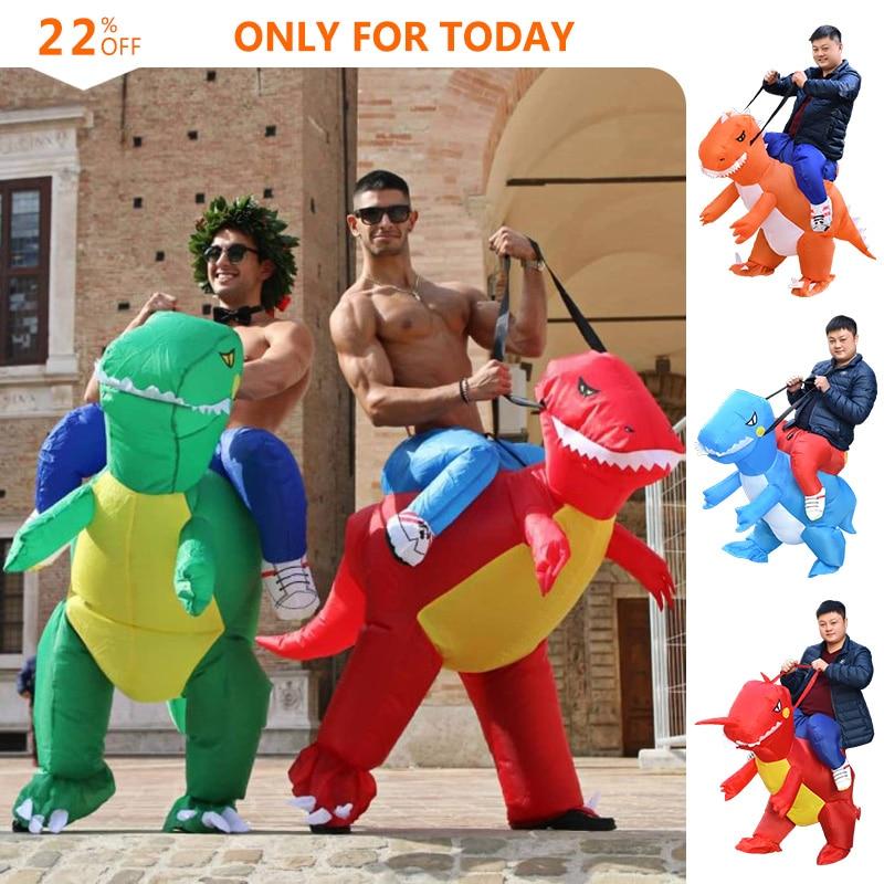 Green Inflatable Dinosaur Costumes for Kids Girls Boys Cowboy Fancy Dress Purim Halloween CosplayGreen Inflatable Dinosaur Costumes for Kids Girls Boys Cowboy Fancy Dress Purim Halloween Cosplay