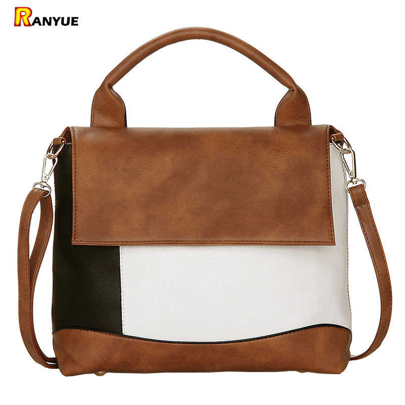 Panelled Patchwork Women Bag Designer High Quality Pu Women Leather Handbags Totes Ladies Hand Bags Famous Brand Shoulder Bags dizhige brand luxury handbags women bag designer famous pu leather bags women high quality shoulder bags ladies hand sac femme