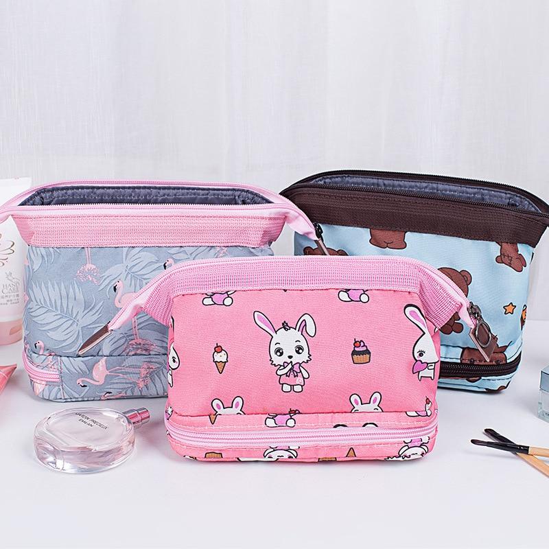 Damentaschen 2019 Neue Frauen Reisetasche Verpackung Würfel Paket Druck Kosmetik Mode Make-up Tasche Lagerung Schönheit Fall Veranstalter Duffle Tasche Seien Sie In Geldangelegenheiten Schlau