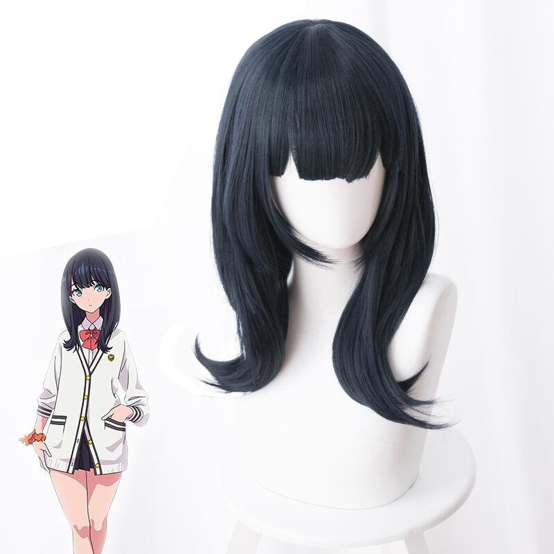Anime SSSS.GRIDMAN Takarada Rikka Cosplay Wig Role Playing 50cm Long Synthetic Hair Wigs