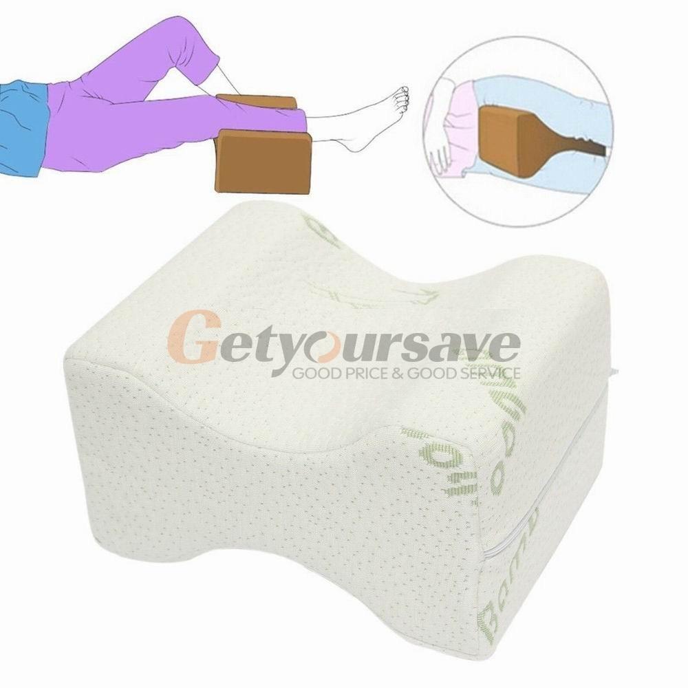 memory foam knee leg pillow bed cushion wedge pressure relief sleep support aidchina