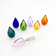 цена на 35X 21.5*13mm drop Diffuser Perfume Refillable Coloured handmade Essential Oil Aromatherapy Bottle glass Pendant