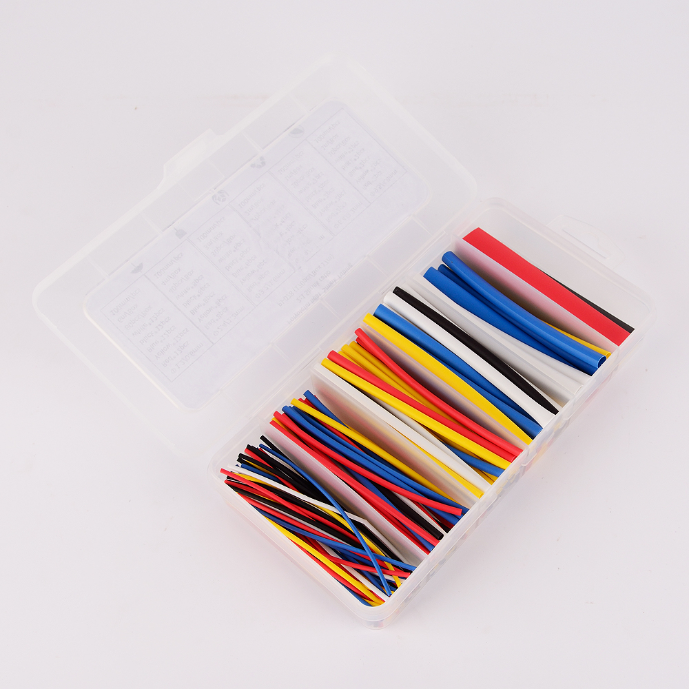 170pcs 100mm 2 1 ratio 6 Size 5 color Polyolefin Heat Shrink Tubing sleeve Cable Wrap Kit Heat Shrink Tubing hot selling in Heat Risers from Automobiles Motorcycles