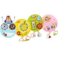 4 шт./компл. детский сад развивающие игрушки настенная игра гусеница игра Веселые часы для детской различных игр обучающая деревянная игруш