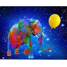 Full Square Diamond Embroidery Elephant Ballon 5D DIY  Painting Cross Stitch Mosaic diamond pattern JS1602 цена 2017