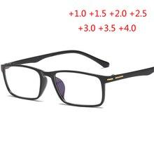 Анти-синий светильник против усталости TR90 дальнозоркости очки для женщин и мужчин Высокая Гибкость Смолы очки для чтения+ 1,0+ 1,5+ 2,0 до+ 4,0