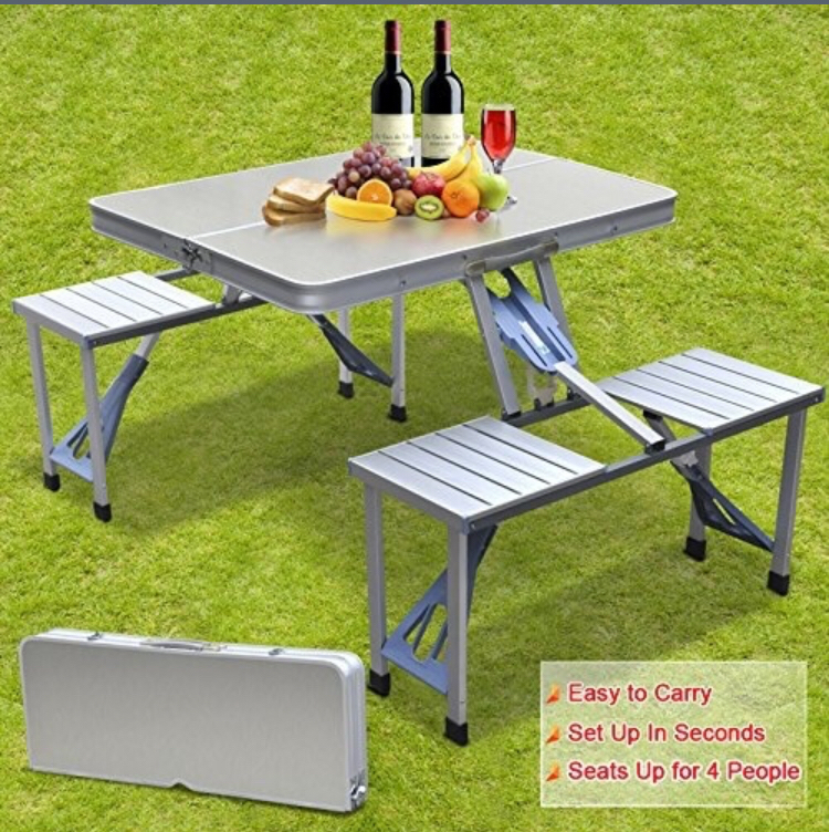 Strange Us 118 7 34 Off Smartlife High Quality Outdoor Aluminum Split Folding Tables And Chairs Portable Barbecue Picnic Tables Chairs In Outdoor Tables Bralicious Painted Fabric Chair Ideas Braliciousco