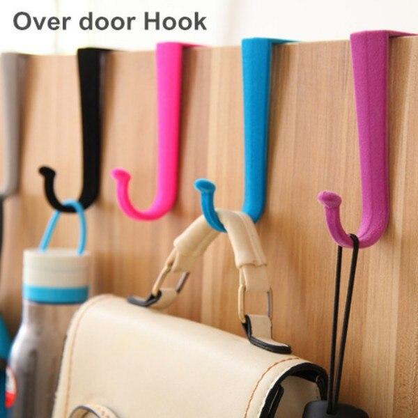 10 Pcs/Lot Plastic Over Door Hook S Hanger Clothes Hook Wall Hat Rack Saloon