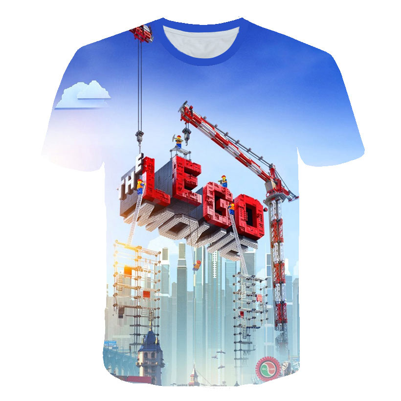 New Fashion Men Casual Tshirts Man Cool Print Children Toy Bricks 3D T shirt Homme Short Sleeve O Neck Pullover Jersey in T Shirts from Men 39 s Clothing
