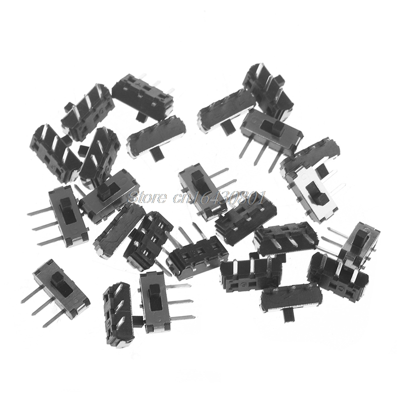 50 volt  8 pin arduIno breadboard fit. 25 pack of 3 Position Switches 2P3T