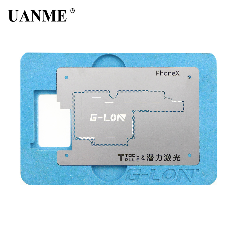 UANME Motherboard Repair Tools for iPhone X Planting Tin Fixture Mainboard IC Chip Ball Soldering Tool ud p3012 repair part planting tin plate for iphone 5 silver