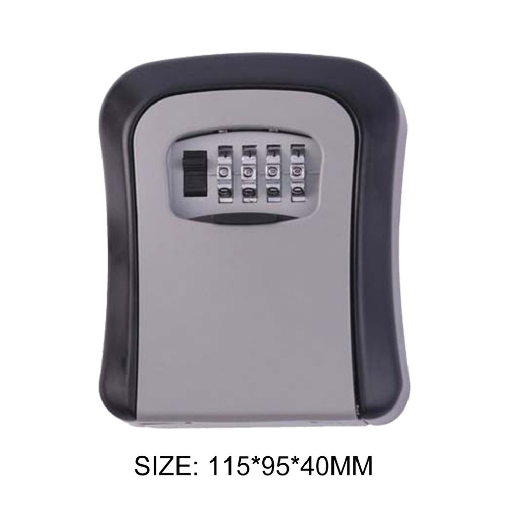 4 Digit Metal Outdoor Safe Key Box Organizer Box Security Opslag Lock Box Outdoor Wall Mount Case Opslag gereedschap