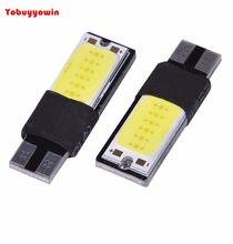 10pcs pingo pingao led t10 cob canbus cancelador evita erros (branco/vermelho/amarelo/gelo azul)