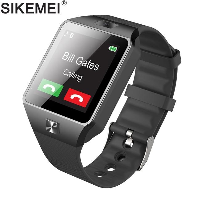 fea4ee54d6d SIKEMEI DZ09 Telefone Do Relógio Inteligente Bluetooth Smartwatch Relógio  de Pulso Camera Pedômetro SIM TF Cartão