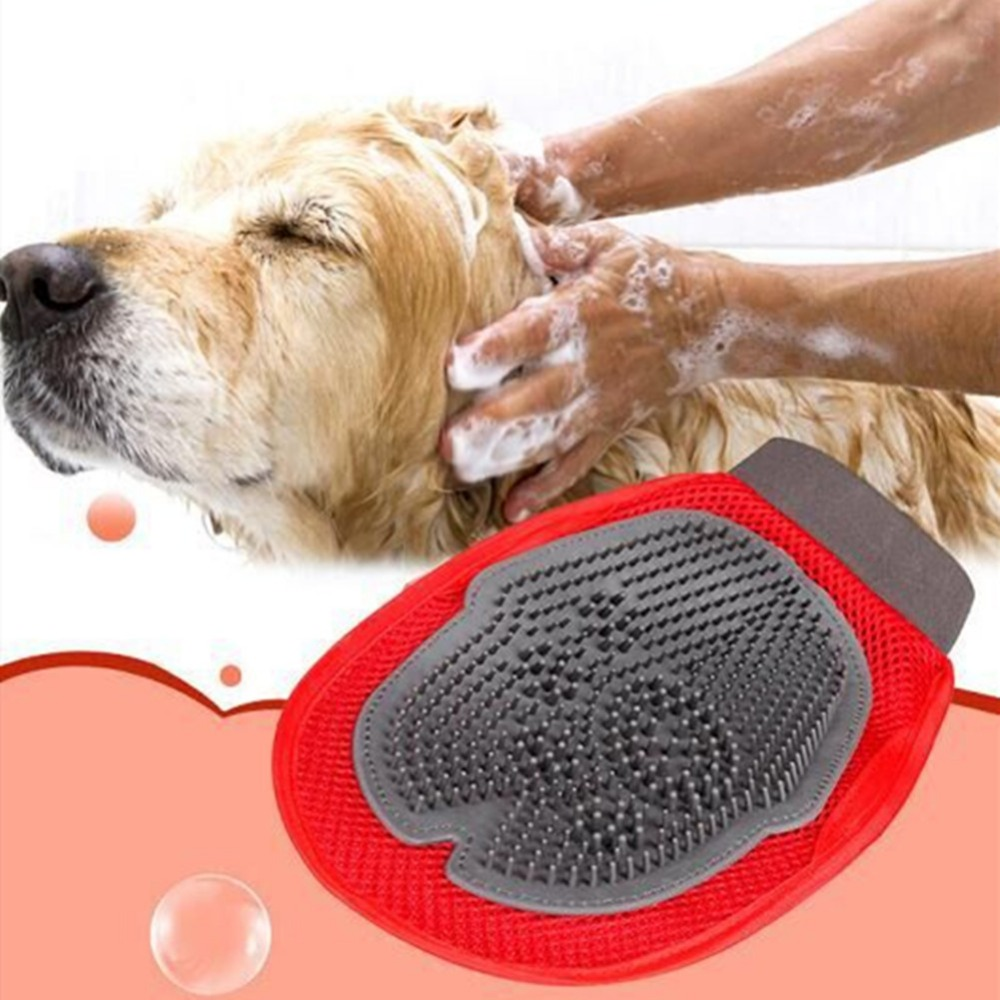Soft Mitt Pet Grooming Glove Brush for Long & Short Hair Pets to Eliminate Shedding Useful for Combing and Cleaning of Pets 11