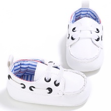 2017 Cute Newborn Baby Boy Prewalker Shoes First Walkers Casual Soft Soled Crib Sneakers Shoes 18 Months