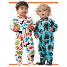 Child polar fleece fabric one piece sleepwear derlook romper spring and autumn of small male female child baby