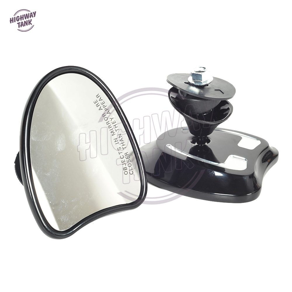 Black Cut Motorcycle Accessories Batwing Fairing Rearview Mirror Case for Harley Davidson Touring Electra Street Glide 2014-2018