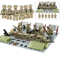 WW2 North Africa Campaign Soviet Union 7th Armored Division Desert Fox Mini Army Figure Tunisia Offensive