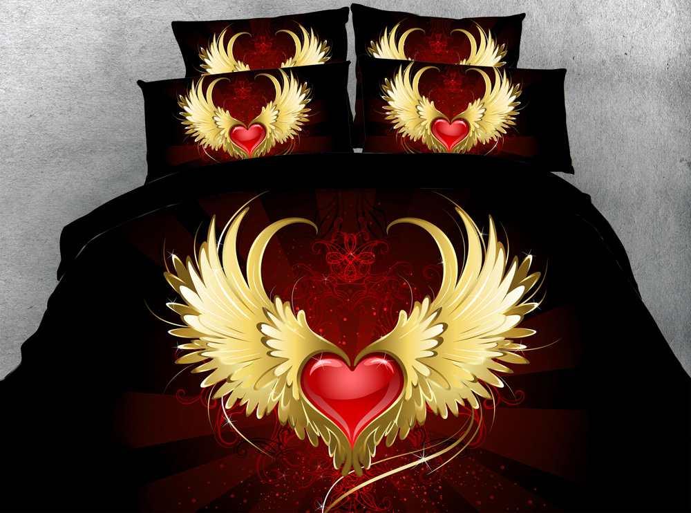Valentina Heart Embroided Duvet set In 2 Sizes