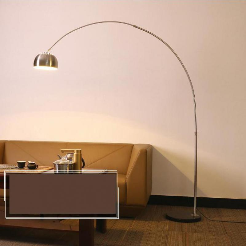 Modern tall Standing Lamp long fishing lamp Floor Lamp for living room floor Light reading office work study lighting chrome E