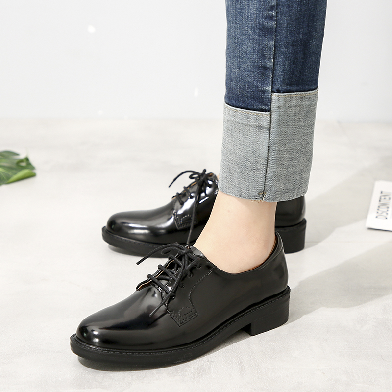 Teahoo Black Patent Leather Oxford