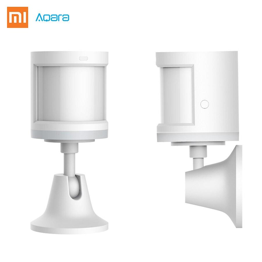 New Design Xiaomi AQara Smart Body Sensor ZigBee Wireless Connection Built In Light Intensity Sensors Work APP Contral