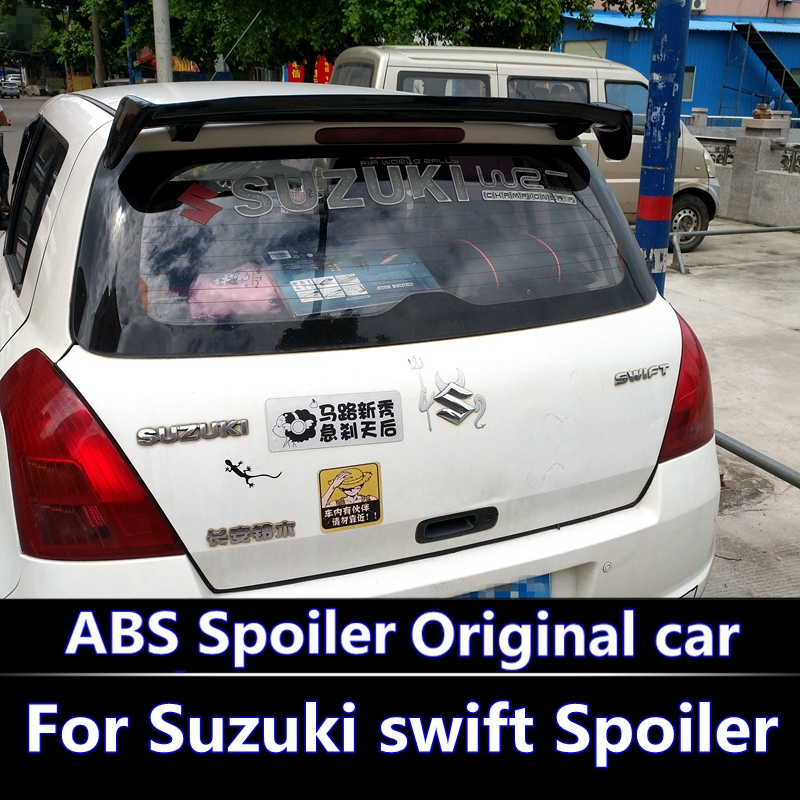 For <font><b>swift</b></font> 2007-2013 Spoiler High Quality ABS Material Car Rear Wing <font><b>swift</b></font> Primer Color Rear Spoiler For <font><b>Suzuki</b></font> <font><b>swift</b></font> Spoiler image