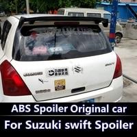 For swift 2007 2013 Spoiler High Quality ABS Material Car Rear Wing swift Primer Color Rear Spoiler For Suzuki swift Spoiler