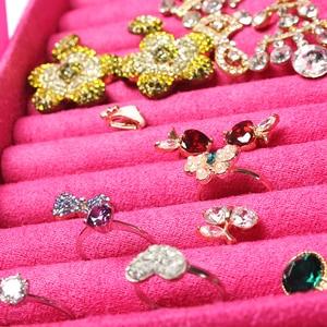 Image 2 - Guanya Accessori dei monili box piatto orecchino della vite prigioniera orecchini di Modo di marca di caso di immagazzinaggio anello di cerimonia nuziale di compleanno del regalo di Trasporto libero