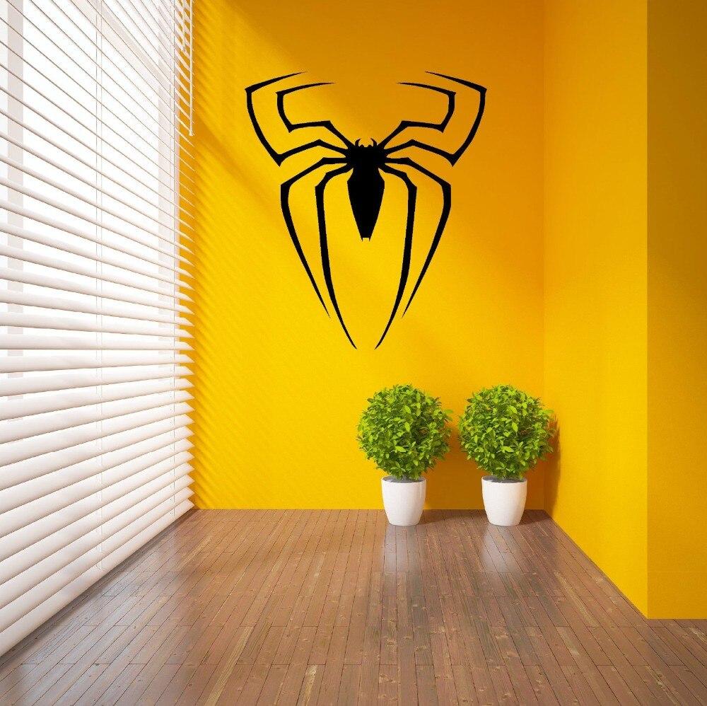 SPIDERMAN SUPERHERO LOGO SPIDER Vinyl Wall Sticker Home Decor ...