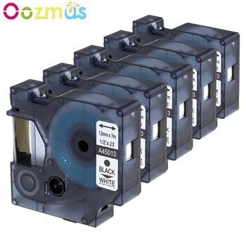 Oozmas Multicolor cinta 45013, 45010, 45018, 45021, 45023, 45024 Compatible con 12MM para Dymo D1 cintas de etiquetas para Dymo LM160 LM280