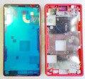 Você kit para sony xperia z3 compact mini m55w 4 cores originais nova LCD Mid Quadro Oriente Placa Habitação Cubra Com Plugue Poeira Cap