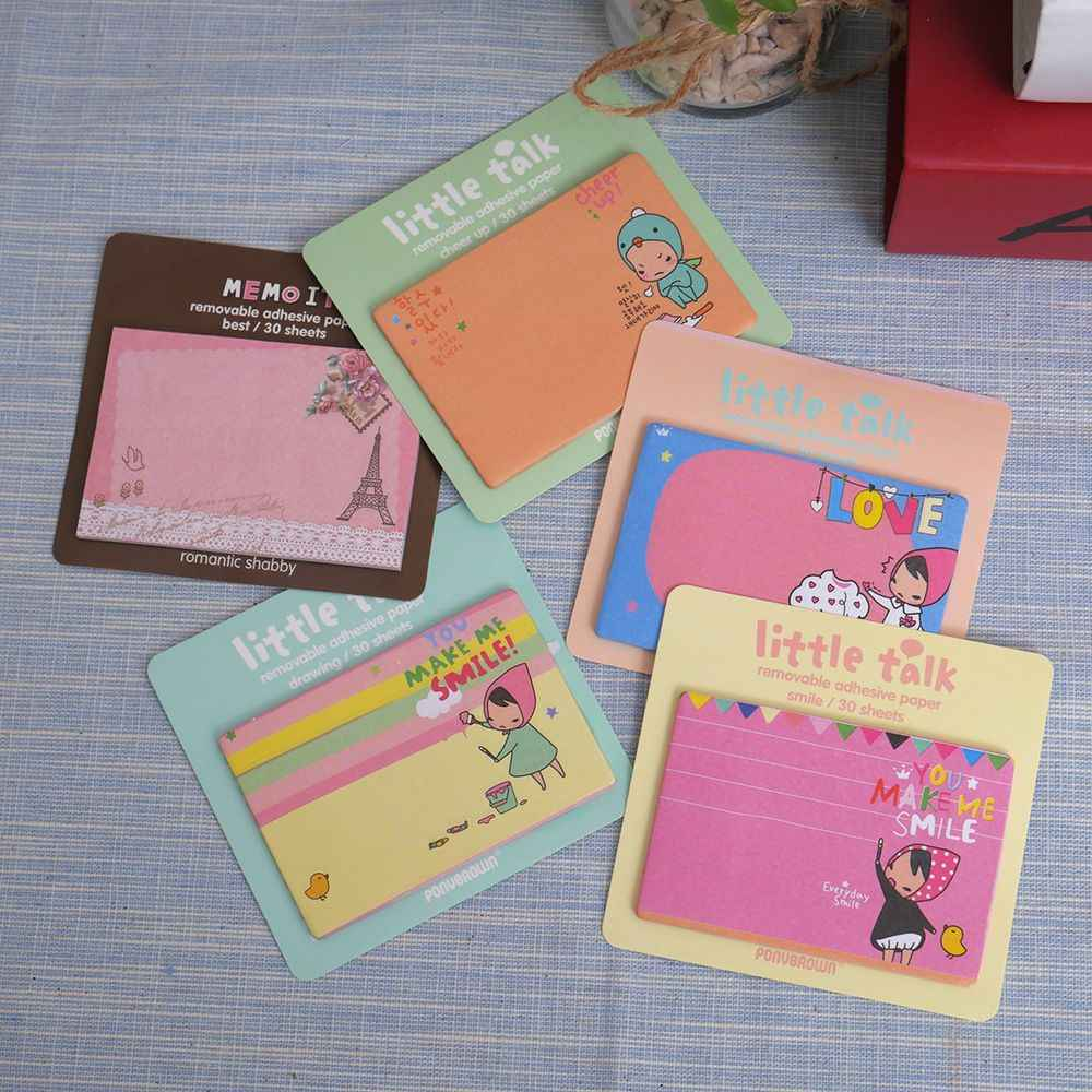1 PC 30 pages rouge capuche fille mémo Pad autocollants Notes dessin animé papier bloc-Notes Kawaii papeterie bureau fournitures scolaires